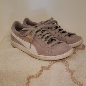Gray Suede Puma shoes